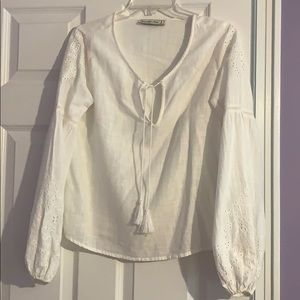 NWOT White Long Sleeve Abercrombie & Fitch Blouse
